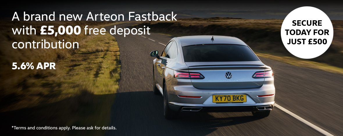 The all-new Volkswagen Arteon new car offers