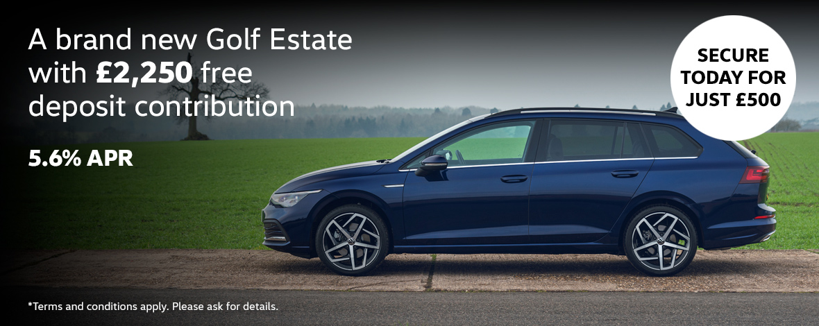 New Volkswagen Golf Estate finance special offers