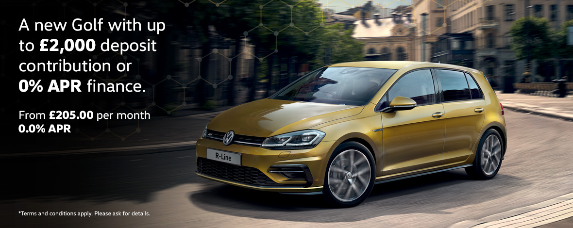 New Volkswagen Golf finance special offers