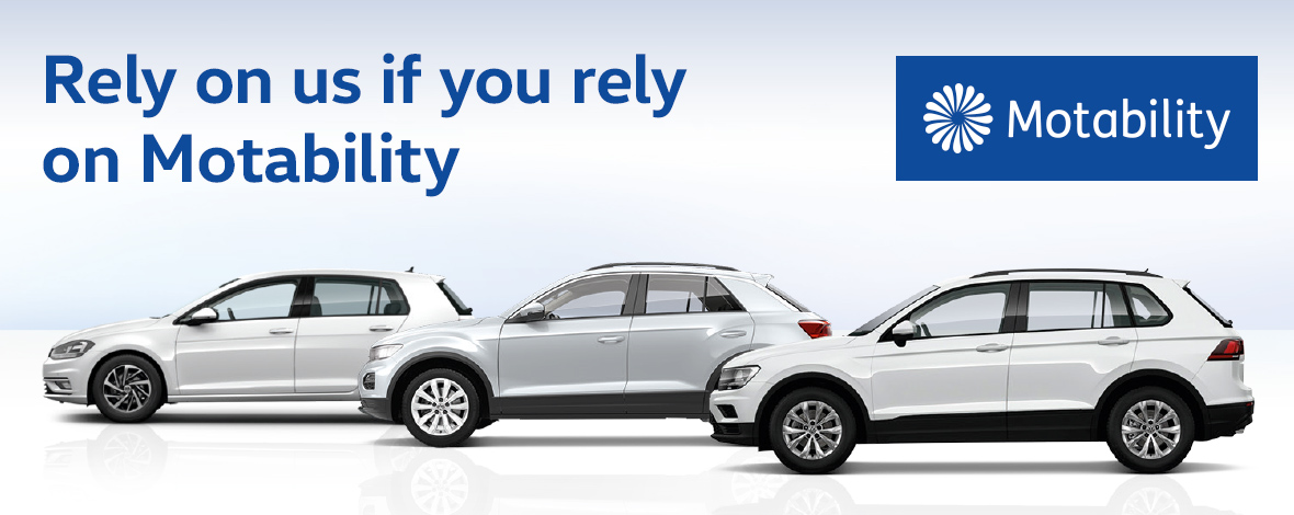 Motability offers at Windrush Volkswagen, Slough, Maidenhead, Berkshire