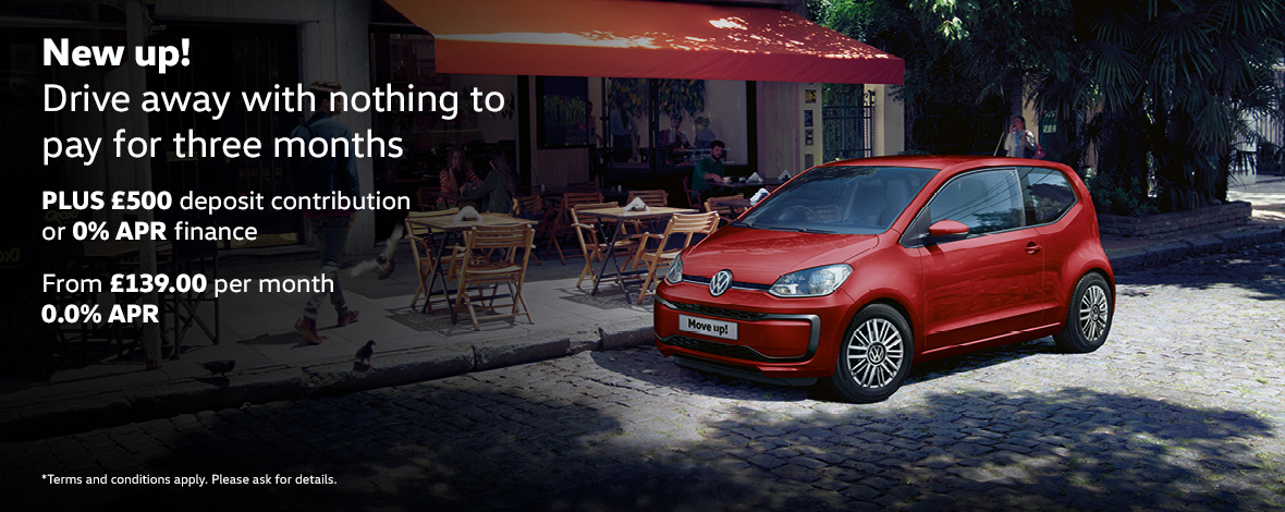 Volkswagen up! discount and deposit contribution finance offers