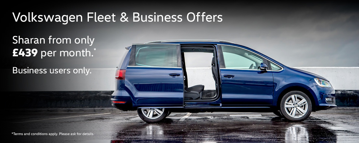 Volkswagen Sharan fleet and business special offers