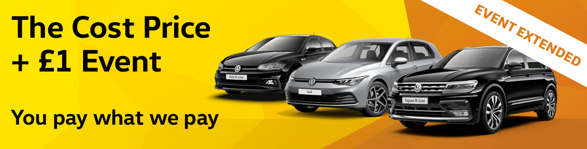 Cost price plus £1 new Volkswagen Event at Windrush Volkswagen Slough and Maidenhead