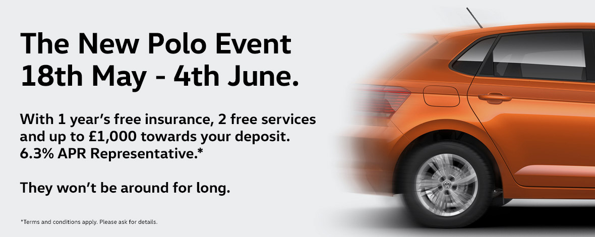 New Volkswagen Polo event 18th May - 4th June