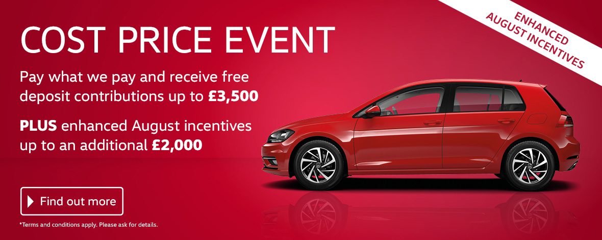Volkswagen Cost Price Event at Slough, Maidenhead, Berkshire