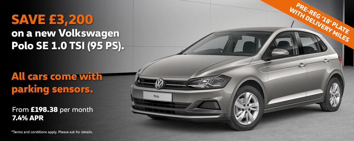 New Volkswagen Polo pre reg offers with huge savings