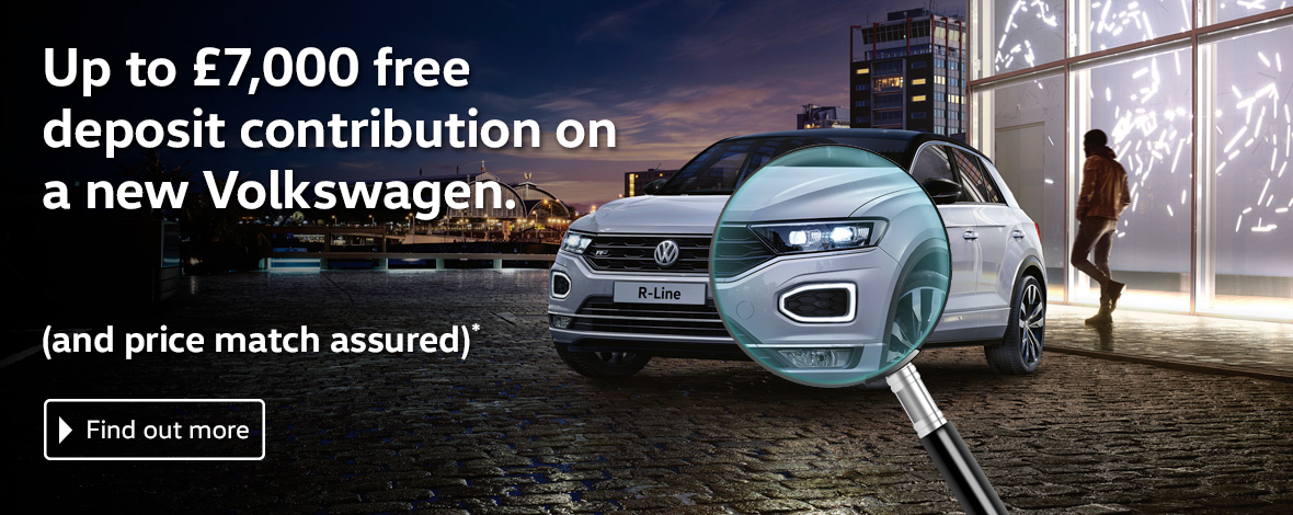 Windrush Volkswagen Price Match deposit new car offers